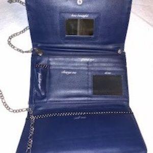 None Bags - Blue Clutch